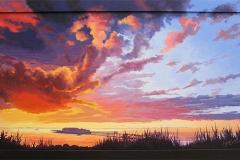 Birnbeck Sunset (acrylic)